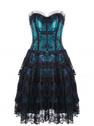 Club Eyelet Tiered Lace Corset Dress -