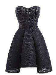 Gothique Lace Up Fit et Flare Corset robe de cocktail -
