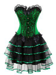 Flounce Robe Corset Taille Plus -