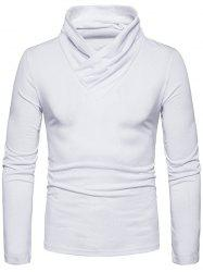 Classical Cowl Neck Long Sleeve T-shirt -