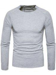 Classical Crew Neck Raglan Sleeve T-shirt -