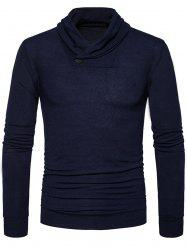 Shawl Collar Pullover Knitted Sweater -