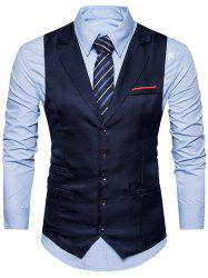Belt Edging Single Breasted Waistcoat -