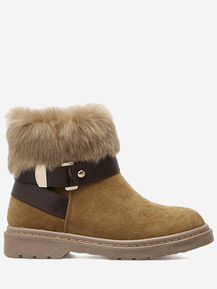 Store Low Heel Faux Fur Ankle Boots