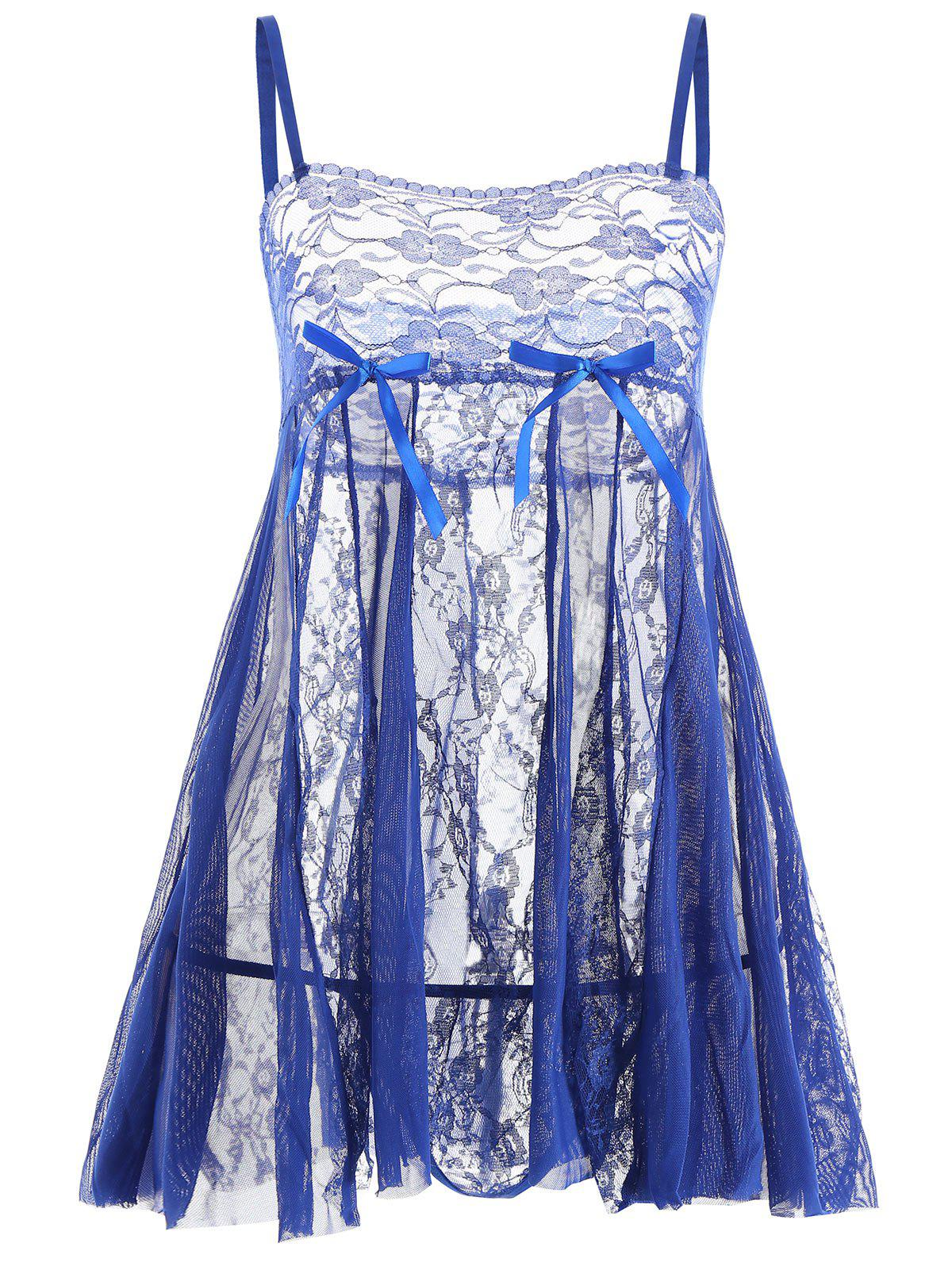 Affordable Lace Slip See Thru Babydoll