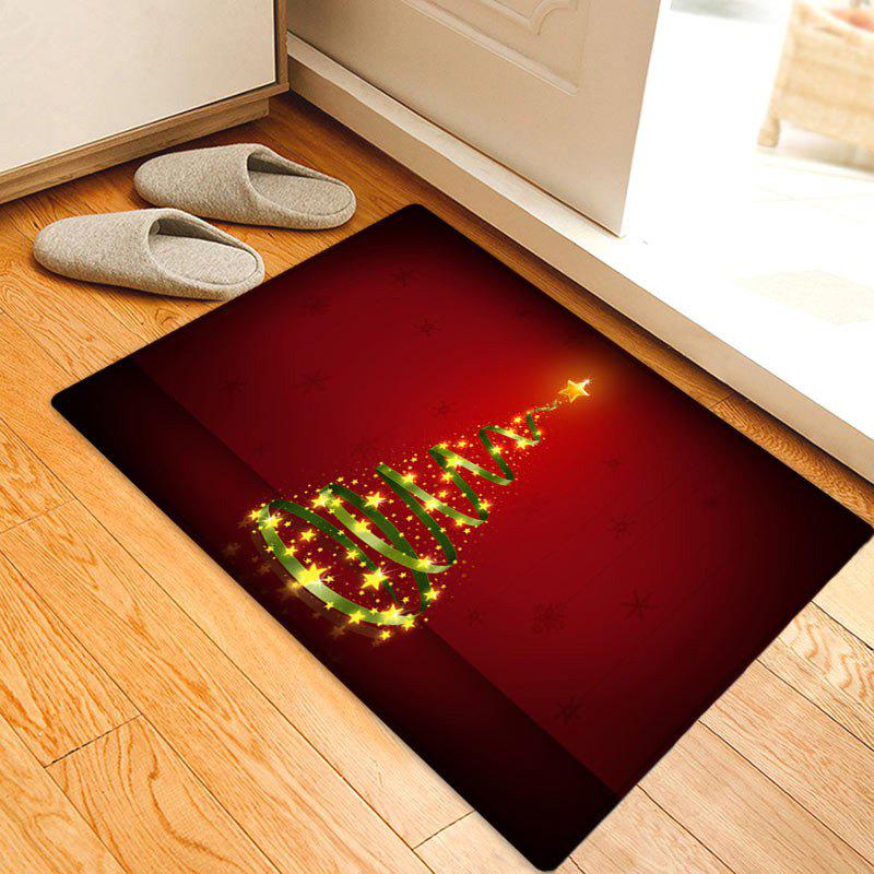 Christmas Star Tree Pattern Anti-skid Water Absorption Area RugHOME<br><br>Size: W20 INCH * L31.5 INCH; Color: RED; Products Type: Bath rugs; Materials: Flannel; Pattern: Star; Style: Festival; Shape: Rectangle; Package Contents: 1 x Rug;