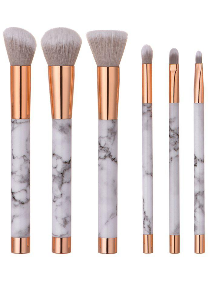 6 Pieces Marble Pattern Makeup Brush SetBEAUTY<br><br>Color: WHITE; Category: Makeup Brushes Set; Brush Hair Material: Nylon; Features: Eco-friendly; Season: Fall,Spring,Summer,Winter; Weight: 0.1730kg; Package Contents: 6 x Makeup Brushes(Pcs)  1 x Bag;