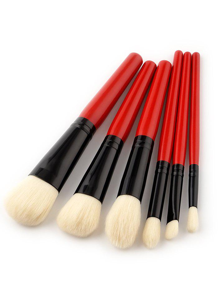 6 Pieces Two Tones Makeup Brush SetBEAUTY<br><br>Color: RED; Category: Makeup Brushes Set; Brush Hair Material: Synthetic Hair; Features: Eco-friendly; Season: Fall,Spring,Summer,Winter; Weight: 0.0740kg; Package Contents: 6 x Makeup Brushes(Pcs);