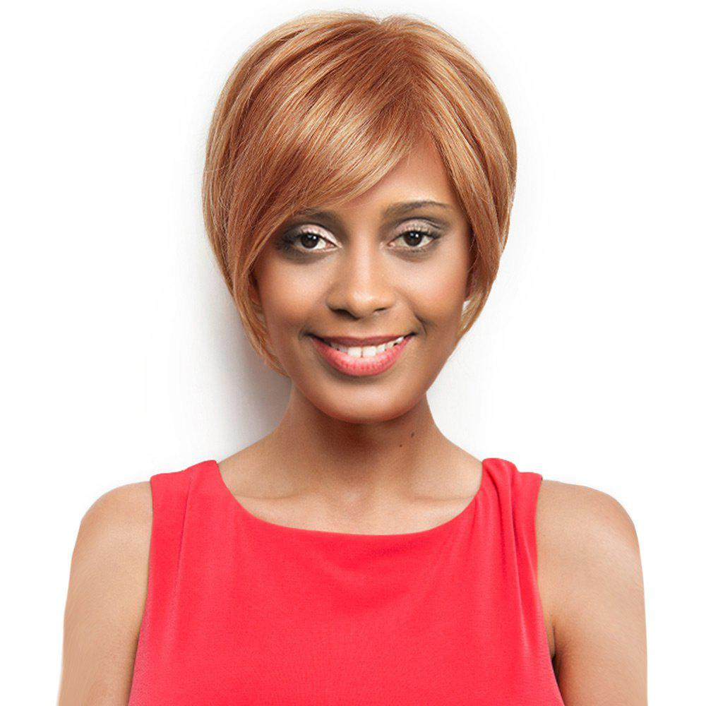 Shop Inclined Bang Short Straight Capless Human Hair Wig