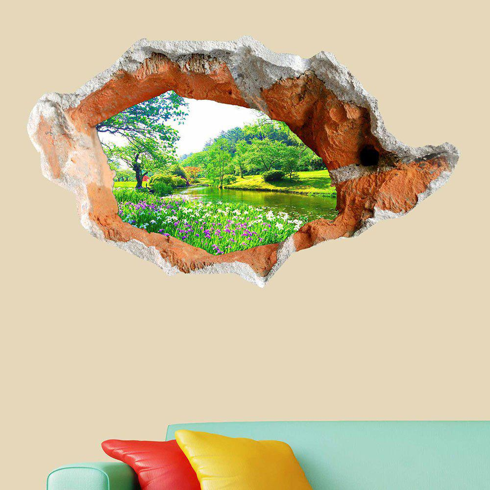 Store 3D Hole Landscape Removable Wall Decor Sticker