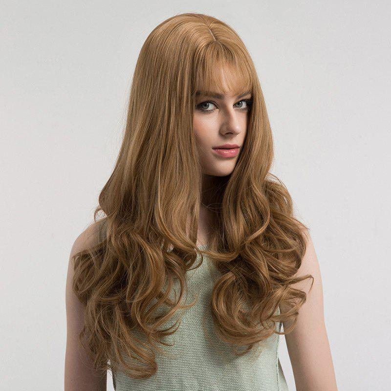 Unique Long See-through Bang Fluffy Curly Synthetic Wig