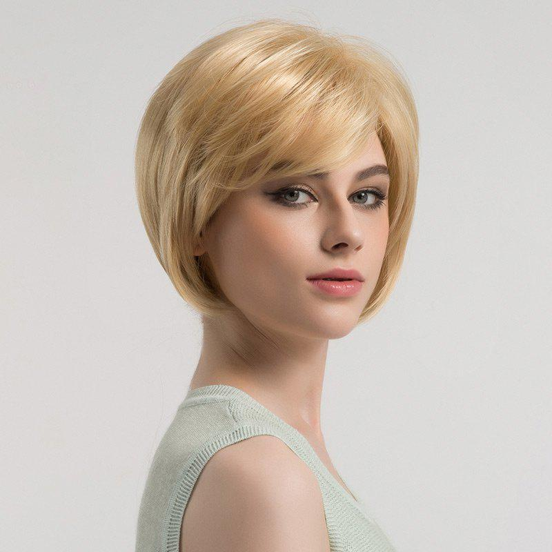 Fancy Oblique Bang Short Straight Bob Synthetic Wig