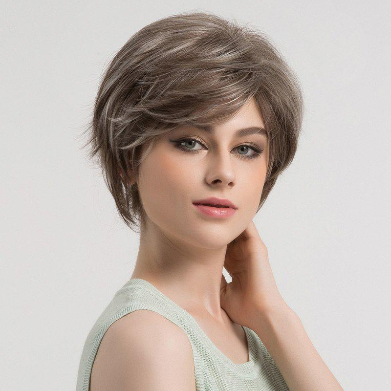 Outfits Short Colormix Side Bang Fluffy Straight Syntheitc Wig
