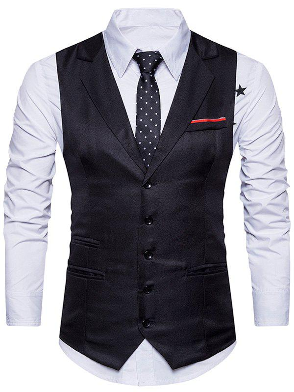 Online Belt Edging Single Breasted Waistcoat