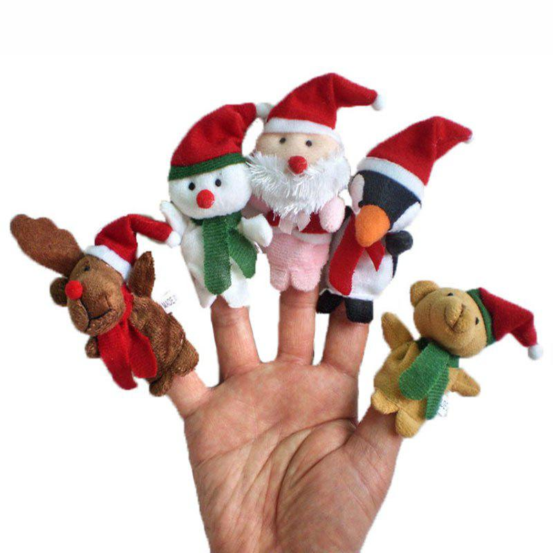 Shop 5 Pcs/Set Cute Plush Toy Christmas Finger Puppets