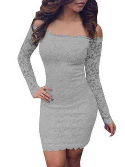 Shop Lace Bodycon Off Shoulder Dress