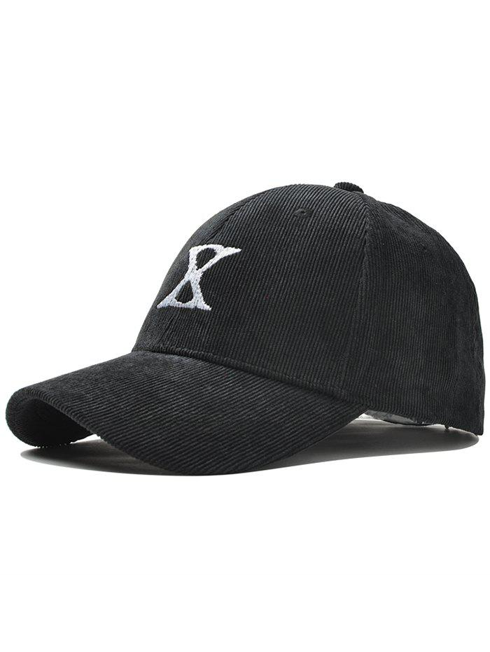 Trendy Outdoor Letter Embroidery Corduroy Baseball Cap