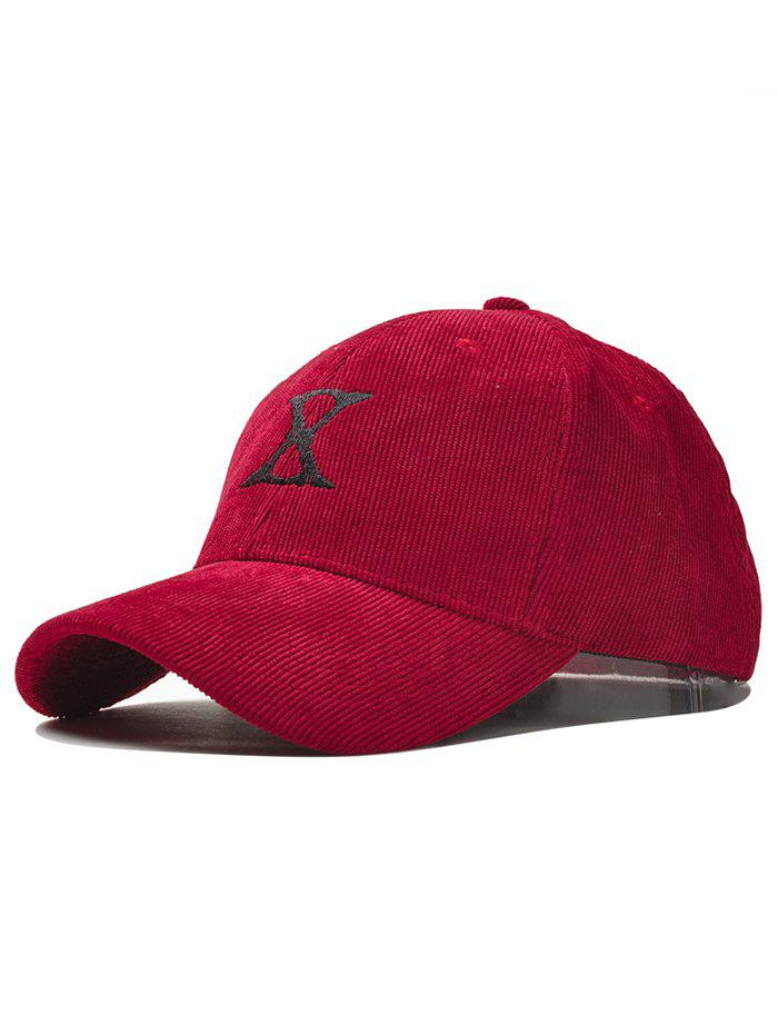 Outfit Outdoor Letter Embroidery Corduroy Baseball Cap
