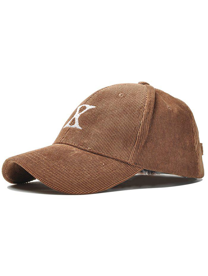 Outfits Outdoor Letter Embroidery Corduroy Baseball Cap