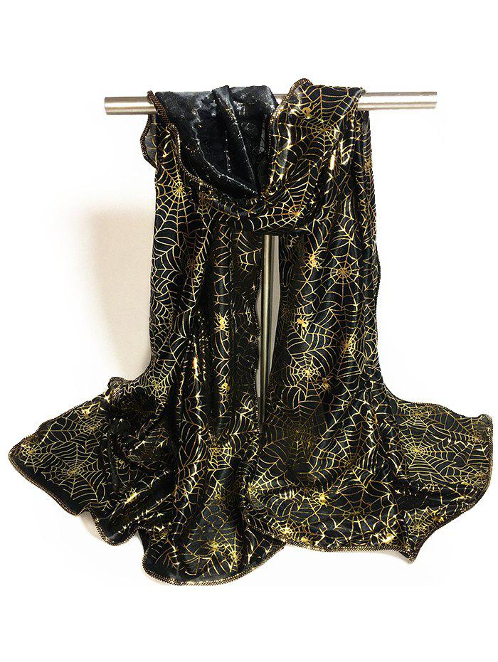 Fashion Gilding Decorated Halloween Scarf