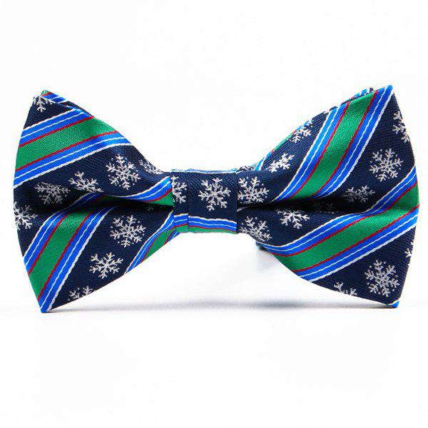 Christmas Festive Jacquard Bow TieACCESSORIES<br><br>Color: BLUE GREEN; Type: Bow Tie; Group: Adult; Style: Fashion; Pattern Type: Others; Material: Polyester; Weight: 0.0800kg; Package Contents: 1 x Bow Tie;