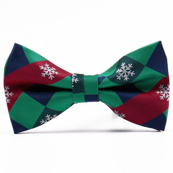 Christmas Festive Jacquard Bow TieACCESSORIES<br><br>Color: GREEN; Type: Bow Tie; Group: Adult; Style: Fashion; Pattern Type: Others; Material: Polyester; Weight: 0.0800kg; Package Contents: 1 x Bow Tie;