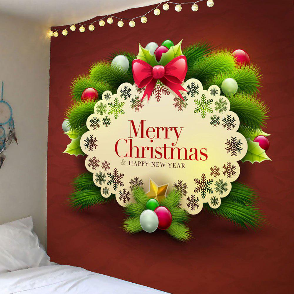 Merry Christmas and Snows Pattern Waterproof Wall TapestryHOME<br><br>Size: W59 INCH * L59 INCH; Color: COLORFUL; Style: Festival; Theme: Christmas; Material: Polyester; Feature: Removable,Washable,Waterproof; Shape/Pattern: Snow; Weight: 0.2600kg; Package Contents: 1 x Tapestry;