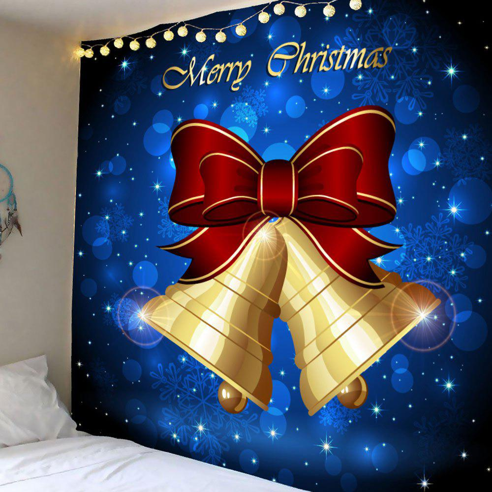 Wall Hanging Christmas Bell Bowknot Pattern Waterproof TapestryHOME<br><br>Size: W79 INCH * L79 INCH; Color: COLORFUL; Style: Festival; Theme: Christmas; Material: Polyester; Shape/Pattern: Print; Weight: 0.4200kg; Package Contents: 1 x Tapestry;