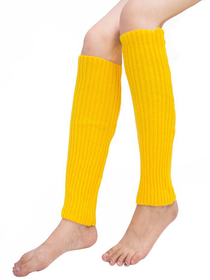 Discount Vertical Striped Pattern Knitted Leg Warmers