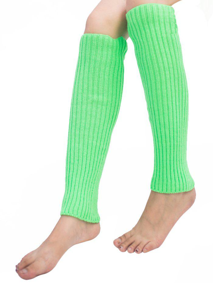 Fancy Vertical Striped Pattern Knitted Leg Warmers