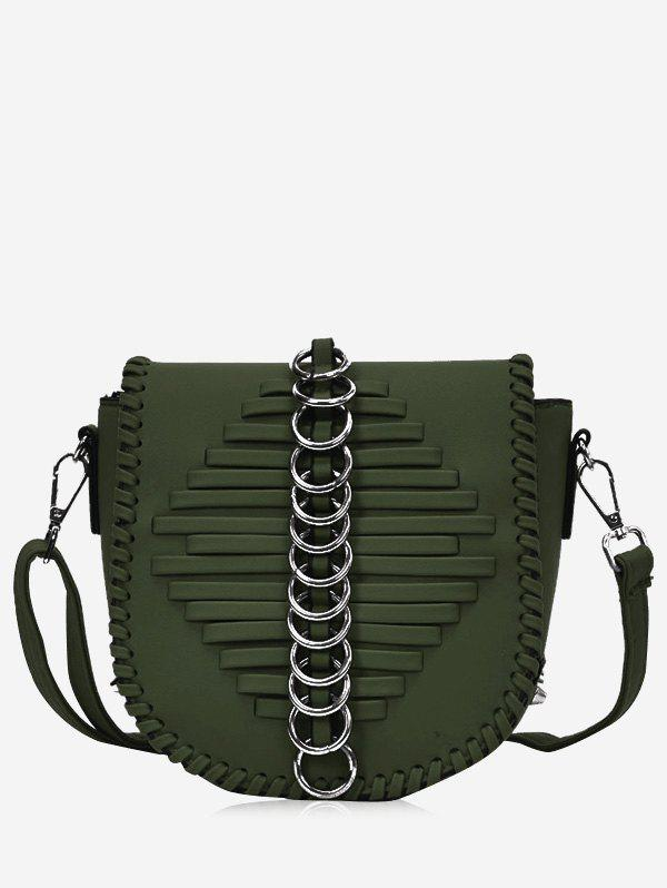 Online Faux Leather Whipstitch Crossbody Bag