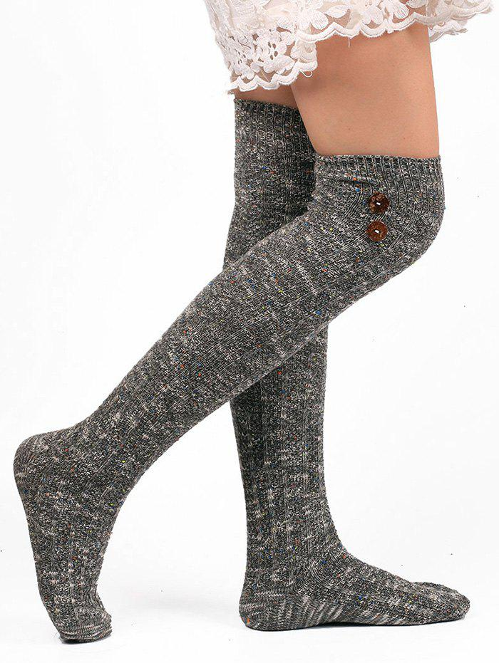Buy Button Knitted Stockings