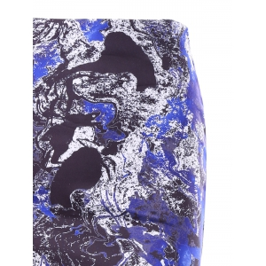 Zipper Midi Print Skirt -