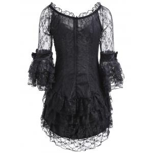 Corset Vintage et Sheer Voile Dress -