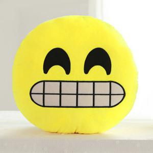 Cartoon Smile Face Emoticon Pattern Pillow Case - YELLOW AND BLACK