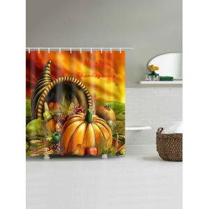 Happy Thanksgiving Food Waterproof Bath Curtain -