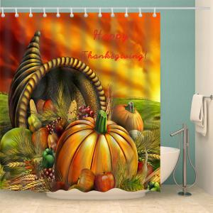 Happy Thanksgiving Food Rideau de bain imperméable -