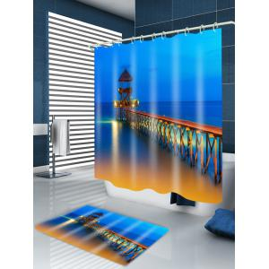 Ocean Bridge Print Waterproof Bathroom Shower Curtain -