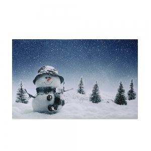 Christmas Snowy Snowman Pattern Anti-skid Water Absorption Area Rug -