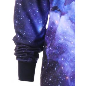 Plus Size Galaxy Reindeer Christmas Hoodie - COLORMIX 5XL