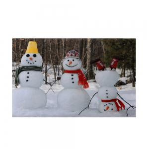 Christmas Snowmen Pattern Anti-skid Water Absorption Area Rug - COLORMIX W16 INCH * L24 INCH