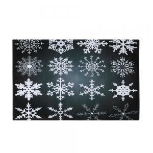 Christmas Snowflake Nonslip Coral Fleece Area Rug -