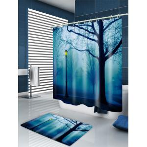 Forest Park Print Waterproof Bathroom Shower Curtain -
