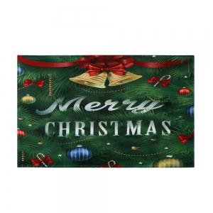 Christmas Tree Bells Pattern Anti-skid Water Absorption Area Rug - COLORMIX W24 INCH * L35.5 INCH