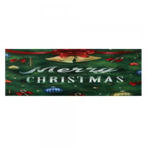 Christmas Tree Bells Pattern Anti-skid Water Absorption Area Rug - COLORMIX W24 INCH * L71 INCH
