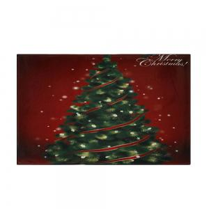 Christmas Tree Pattern Anti-skid Water Absorption Area Rug - COLORMIX W16 INCH * L24 INCH
