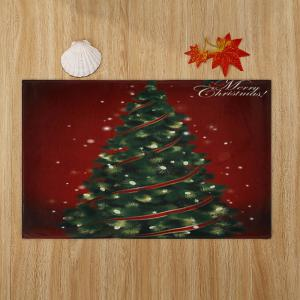 Christmas Tree Pattern Anti-skid Water Absorption Area Rug - COLORMIX W24 INCH * L35.5 INCH