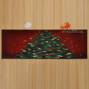 Christmas Tree Pattern Anti-skid Water Absorption Area Rug - COLORMIX W16 INCH * L47 INCH