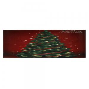 Christmas Tree Pattern Anti-skid Water Absorption Area Rug - COLORMIX W24 INCH * L71 INCH