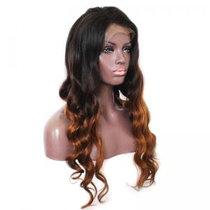 Long Side Part Loose Wave Indian Virgin Colormix Lace Front Human Hair Wig -